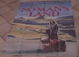 AFFICHE CINEMA ORIGINALE FILM NO MAN'S LAND Alain TANNER Hugues QUESTER 1985 TBE TB DESSIN Yves PRINCE - Posters