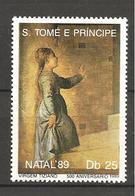 S. TOME' & PRINCIPE - 1989  TIZIANO  Vergine  Nuovo** MNH - Madonnen