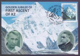 PAKISTAN 2004 - Golden Jubilee Of First Ascent Of K2 Mountains, K-2 MAXIMUM CARD - Pakistan