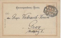 AK 0040  Correspondenz-Karte An Den Grazer Verbrauchs-Verein Um 1897 - 1850-1918 Imperium