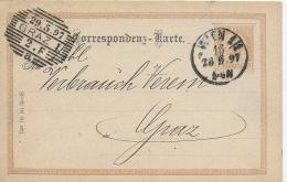 AK 0040  Correspondenz-Karte An Den Grazer Verbrauchs-Verein Um 1897 - Briefe U. Dokumente