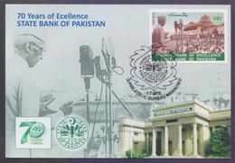 PAKISTAN 2018 - 70 Years Of State Bank Of Pakistan, Jinnah Speech, MAXIMUM CARD - Pakistan