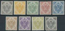 BOSNIEN UND HERZEGOWINA 1-9IIND **, 1911, Amtliche Neudrucke, Mi.Nr. 9 Eckzahnfehler Sonst Postfrischer Prachtsatz, Mi. - Bosnië En Herzegovina
