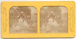 Photo Stéréo - Une Scène Familiale - Colorisation Par Transparence - Stereo-Photographie