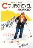 Publicité Courchevel Moriond La Station 1850m (2 Scans) - Publicité