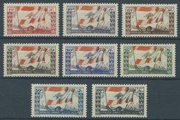 LIBANON 328-35 **, 1946, Landesflagge, Postfrischer Prachtsatz - Libanon