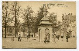 CPA - Carte Postale - Belgique - Saint Nicolas - Marché Au Poisson - 1928 ( SV5684) - Saint-Nicolas