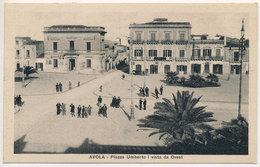 AVOLA (SR) PIAZZA UMBERTO I' VISTA DA OVEST 1932 - Siracusa