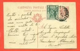 INTERI POSTALI I-CARTOLINE POSTALI-COLONIE-LIBIA-C2-DA TRIPOLI PER ALESSANDRIA - Ganzsachen