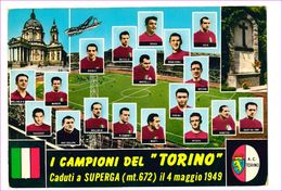M7351 Piemonte TORINO Calcio Squadra Superga 1973 Viaggiata - Stadiums & Sporting Infrastructures