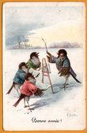 Bonne Année - Illust. C. OHLER - Oiseau Humanisé - Anthropomorphisme - Chef D'Orchestre - Chanteur - B.K.W.I. 3024/1 - Other Illustrators