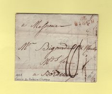 Binch - 86 - 1811 - Courrier De Fontaine L'Eveque - Departement Conquis De Jemappes - 1792-1815: Conquered Departments