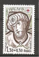 FRANCIA - 1979 Vetrate Della Cattedrale Di Rouen - Croce Rossa Nuovo** MNH - Vetri & Vetrate