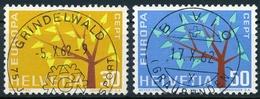 389-390 / 756-757 Mit Vollstempel GRINDELWALD Und BIVIO - Suisse