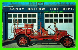 CAMIONS - FIRE TRUCK - 1920 FORD-LA FRANCE CHEMICAL HOSE TRUCK - SANDY HOLLOW FIRE DEPT. - Camions & Poids Lourds