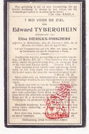 DP Edward Tyberghein ° Bekegem Ichtegem 1854 † Roksem Oudenburg 1911 X Elisa Dierickx - Visschers - Devotion Images