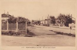 PONTAILLER SUR SAONE - Avenue De La Gare - France
