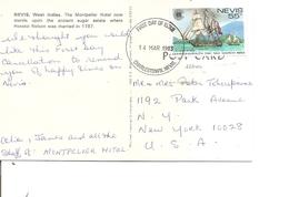 Nevis - Voiliers ( CP De 1983 De Charlestown Vers Les USA à Voir) - America (Other)