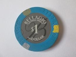 1 $ Bellagio Las Vegas Token Casino/Jeton De Casino 100 $ Bellagio Las Vegas.Diameter/diametre=39 Mm - Casino