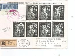 Autriche ( Lettre Recommandée Par Avion De Vienne Vers La Grande-Bretagne à Voir) - 1945-.... 2ème République