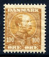 DENMARK 1904 Christian IX  100 Øre MNH / **.  Michel 52 - 1864-04 (Christian IX)