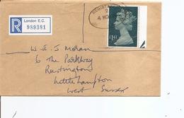 Grande-Bretagne ( Lettre Recommandée De 1986 De Londres Vers Le Sussex à Voir) - 1952-.... (Elisabeth II.)