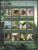 RWANDA 2009 SCOUTS BIRDS OWLS & EAGLES M/SHEET MNH - Rwanda