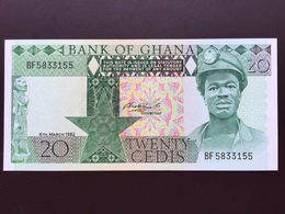 GHANA P21C 20 CEDIS 1982 UNC - Ghana