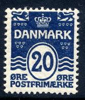 DENMARK 1912 Wavy Lines 20 Øre Definitive MNH / **.  Michel 65 - Unused Stamps