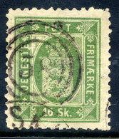 DENMARK 1871 Official 16 Skilling Perf. 12½, Used.   Michel Dienst 3B - Officials
