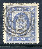 DENMARK 1871 Official 2 Skilling Perf. 14:14½, Used.   Michel Dienst 1A - Dienstpost