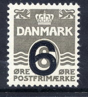 DENMARK 1940 Surcharges 6 On 8 Øre  Type I MNH / **.  Michel 254 I - Unused Stamps
