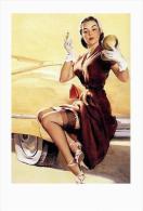Pin Ups Of GIL ELVGREN Postcard RPPC - (63) Jill Needs Jack, 1950 - Size 15x10 Cm.aprox. - Pin-Ups