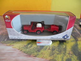Véhicule De Pompier - Jeep Willy Avec Remorque Tonne - 1/43 - SOLIDO France - Pompiers