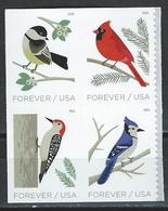 USA. Scott # MNH Pane Of 4 From Booklet. Birds In Winter 2018 - Blocks & Sheetlets