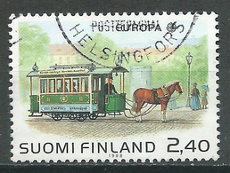 Finlande YT N°1016 Europa 1988 Tramway Hippomobile Oblitéré ° - Finnland