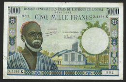 WEST AFRICAN STATES SENEGAL 5000 FRANCS ND(1965) P#709Ki - West-Afrikaanse Staten