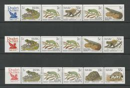 S. Africa 1995 Fauna 3 Strips Reader's Digest Y.T. 807A/815A ** - Ungebraucht