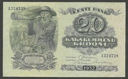 ESTONIA 20 KROONI  1932 UNC P- 64 - Estonie