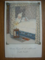 (enfants) Pauli EBNER: Gute Nacht ! Bonne Nuit !. Carte Neuve Vers 1910. BE. - Ebner, Pauli