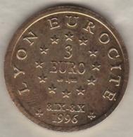 Lyon Centenaire De Fourvière. 3 Euro 1996. 69 RHÔNE. - Euros Of The Cities