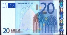 Euronotes 20 Euro 2002  UNC  < T >< K004 > Ireland Trichet RARE - EURO
