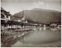 WEGGIS Bords Du Lac - Photo Format 23 X 27 Cm Sur Support Cartonné - LU Lucerne