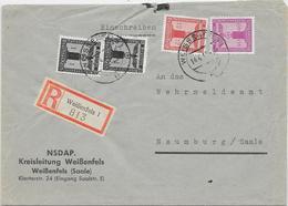 DR Dienst Reco Brief Der NSDAP Kreisleitung Weißenfels 14.4.42 Mif. Mi.144,150,154 N. Naumburg - Germany