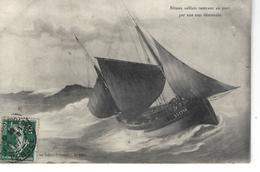 85 - LES SABLES D' OLONNE - T.Belle Vue Animée D'un Bâteau Sablais Rentrant Au Port Par Une Mer Démontée - Sables D'Olonne