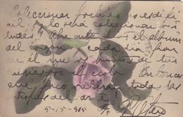 FRAY JOSE PACIFICO OTERO-AUTOGRAPHE SIGNE SUR POSTCARD ORIGINAL YEAR 1905 CIRCULEE TIMBRES ARRACHES -BLEUP - Autographes