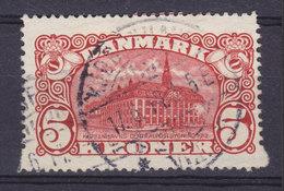 Denmark 1912 Mi. 66    5 Kr Hauptpostgebäude Paper ERROR Variety Big & Small Teeth Higher Than Normal Stamp !! (2 Scans) - Abarten Und Kuriositäten