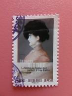 """Timbre France YT 1263 AA - Normandie Impressionniste - """"La Femme Au Chapeau Noir"""" De Edouard Manet - 2016 - Adhésifs (autocollants)"""