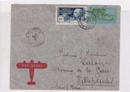 AIRMAIL CIRCULEE AFRIQUE EQUATORIALE FRANÇAISE TO FRANCE OBLITERE 1938-BLEUP - A.E.F. (1936-1958)