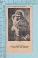 Religion, Die Cut  - St Antoine Et Itinéraire De Vacance, W P - Holy Card, Image Pieuse, Santini - Devotion Images